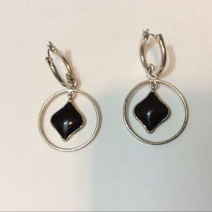 Jewelry - ❤️3/$15 Hoop Earrings Circle and Diamond Shape